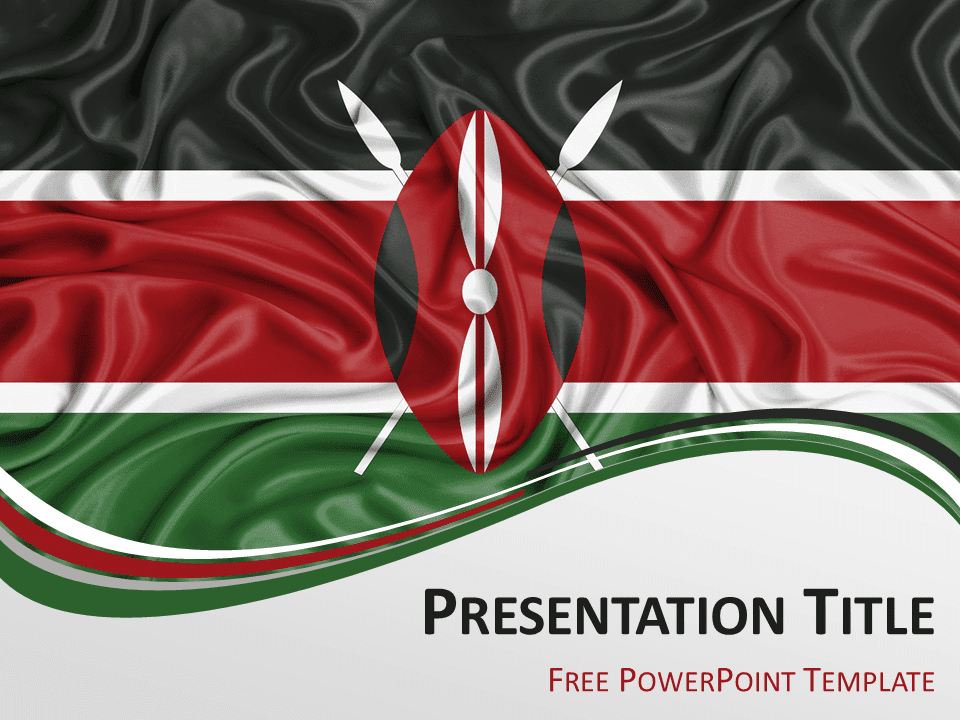 Kenya Flag Powerpoint Template Presentationgo Com