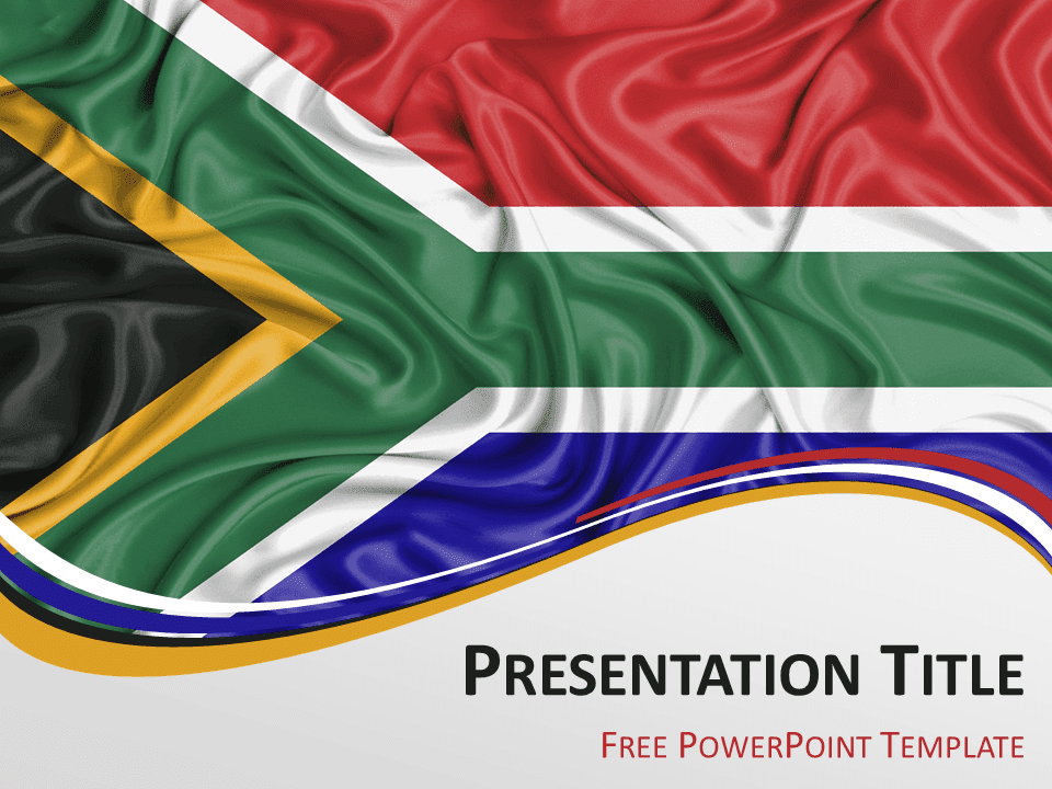 Africa the free powerpoint template library south africa flag powerpoint template toneelgroepblik Gallery