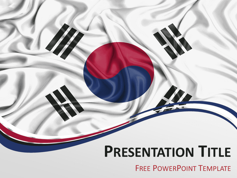 South korea the free powerpoint template library south korea flag powerpoint template toneelgroepblik Gallery