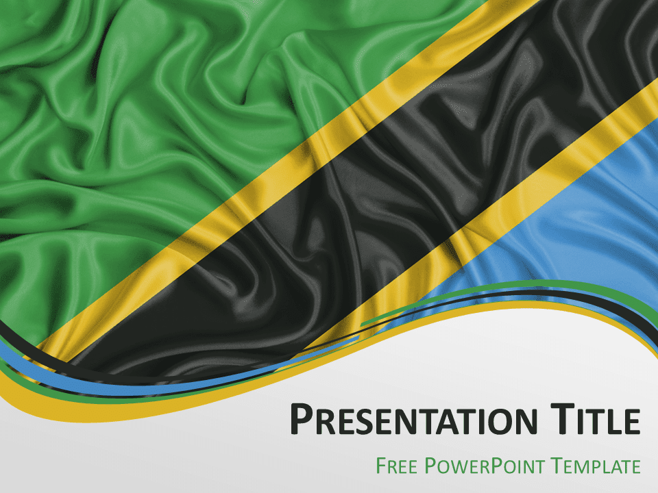 Africa the free powerpoint template library tanzania flag powerpoint template toneelgroepblik Image collections