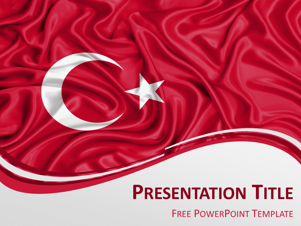 Turkey flag powerpoint template presentationgo view larger image free powerpoint template with flag of turkey background toneelgroepblik