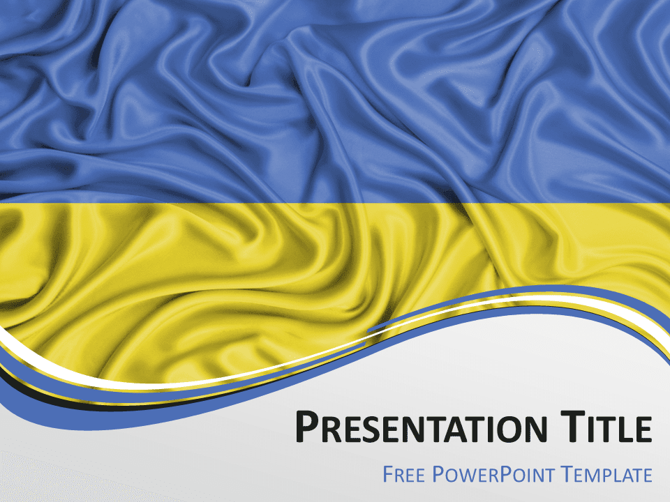 Free yellow powerpoint templates presentationgo ukraine flag powerpoint template toneelgroepblik Choice Image