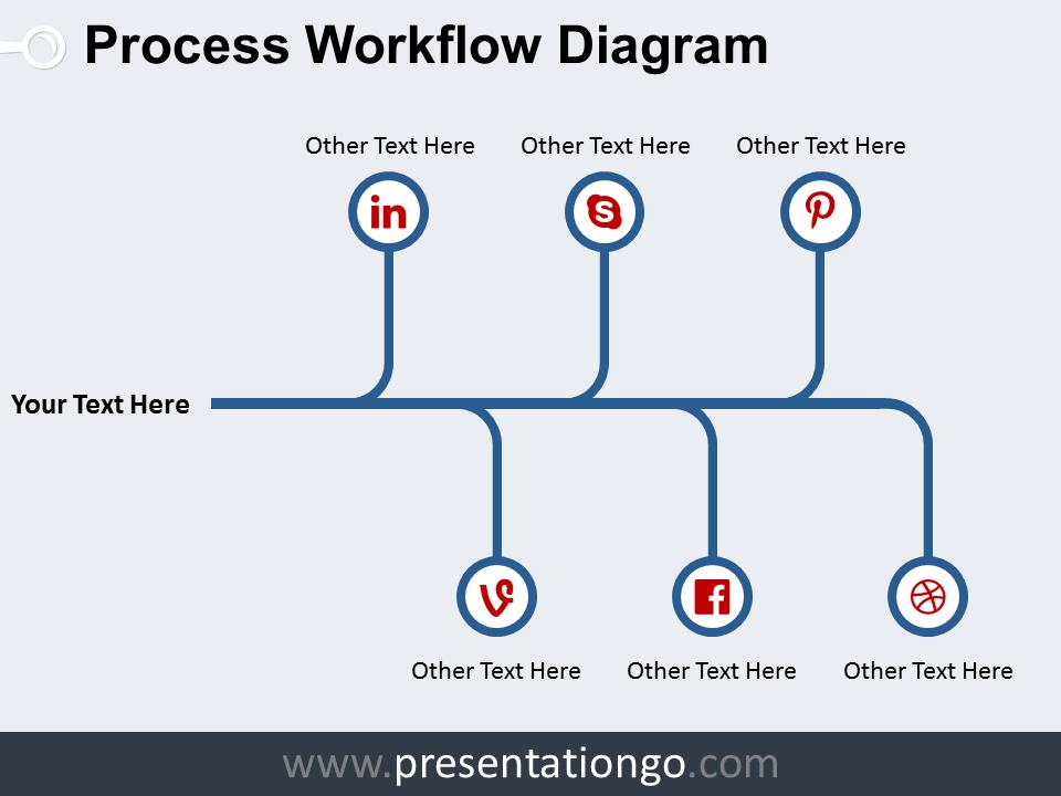 Free Process Workflow PowerPoint Diagram