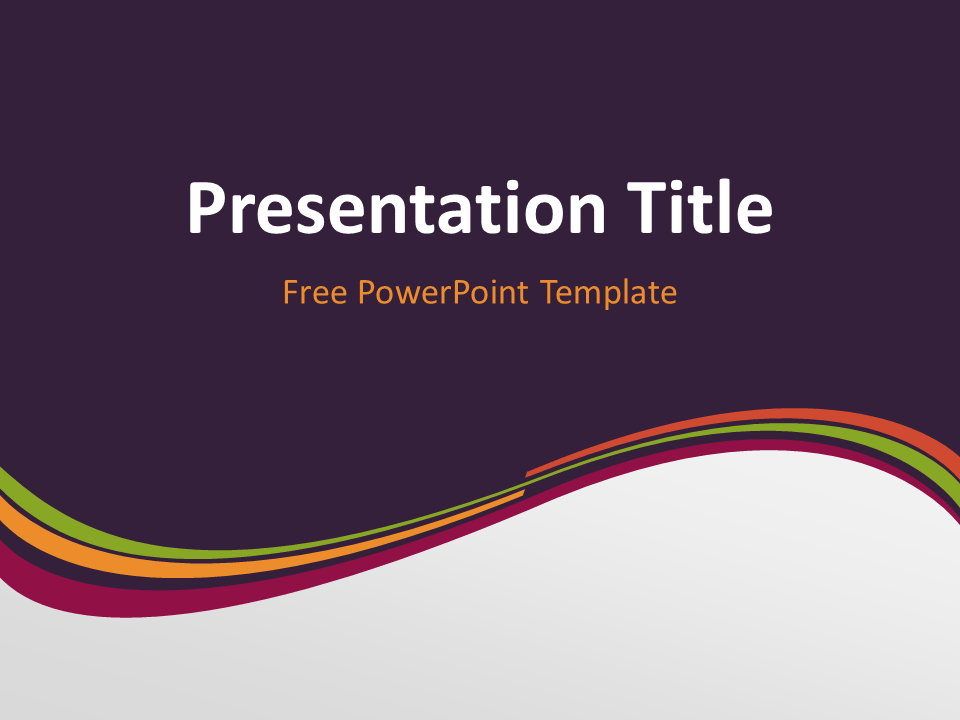 Free purple powerpoint templates presentationgo purple wave powerpoint template toneelgroepblik Image collections