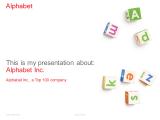 Free clean Alphabet PowerPoint Template