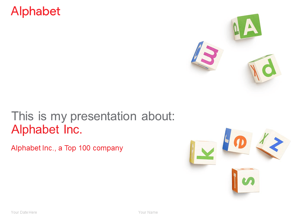Free clean Alphabet PowerPoint Template