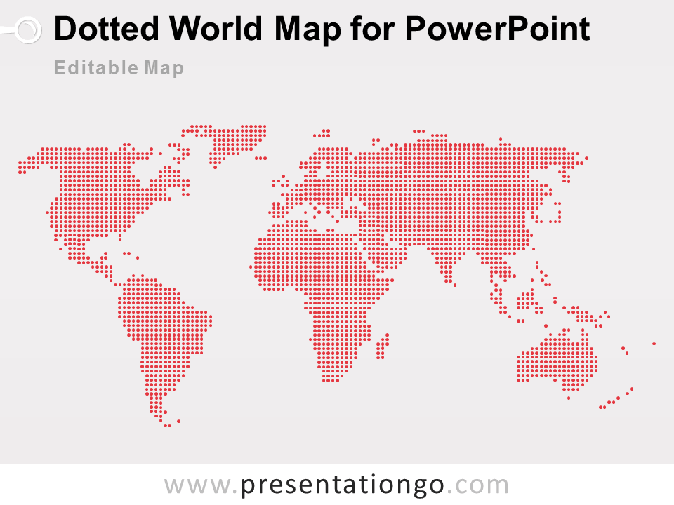 Powerpoint Global Map.Dotted World Map Powerpoint Presentationgo Com