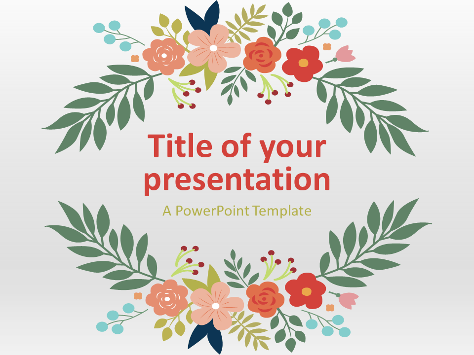 Free nature powerpoint templates presentationgo floral spring powerpoint template toneelgroepblik Image collections