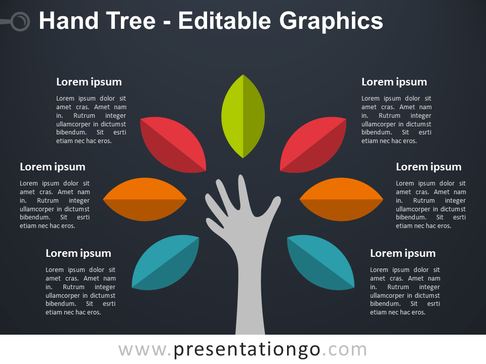hand tree powerpoint diagram