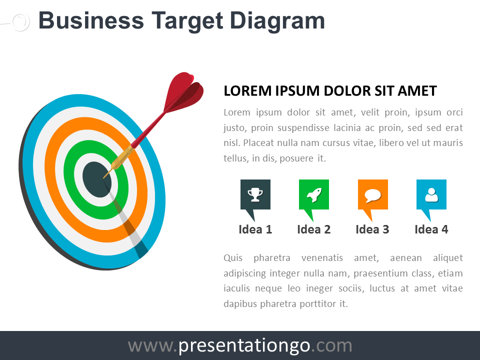 free target and goals powerpoint templates - presentationgo, Modern powerpoint
