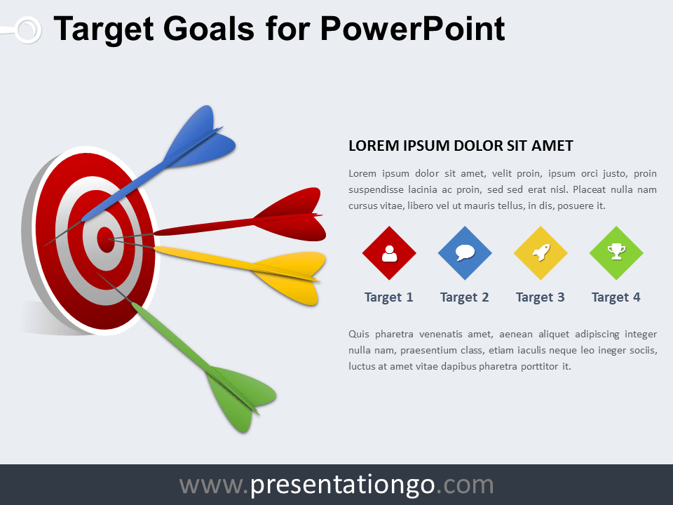 Success the free powerpoint template library target goals powerpoint diagram maxwellsz