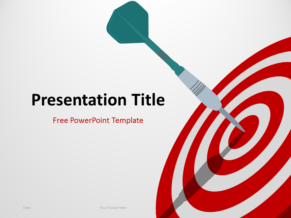 Free Target PowerPoint Template with Dart