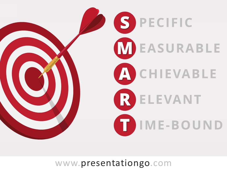 Free Target SMART PowerPoint Diagram