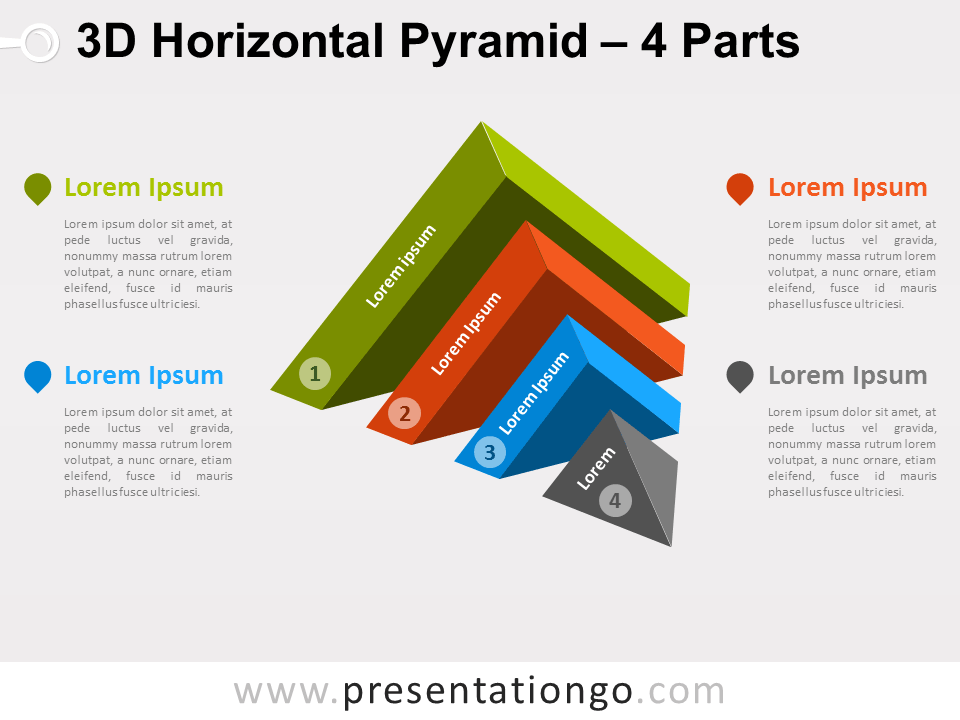 3d horizontal pyramid for powerpoint presentationgo com
