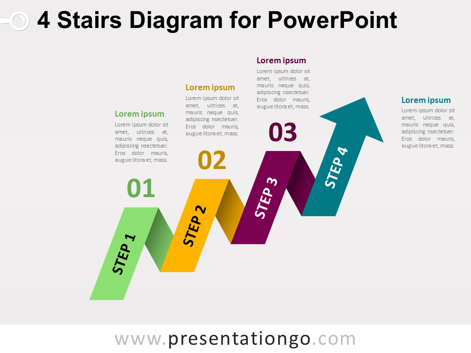 Evolution page 4 of 4 the free powerpoint template library 4 staged arrow stair powerpoint diagram toneelgroepblik Gallery
