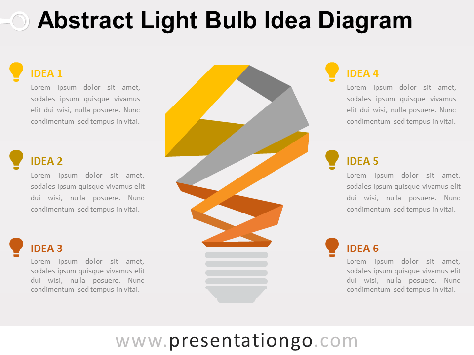 Free Abstract Light Bulb Idea Diagram for PowerPoint