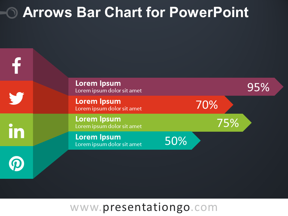 Arrows Bar Chart For Powerpoint Presentationgo Com