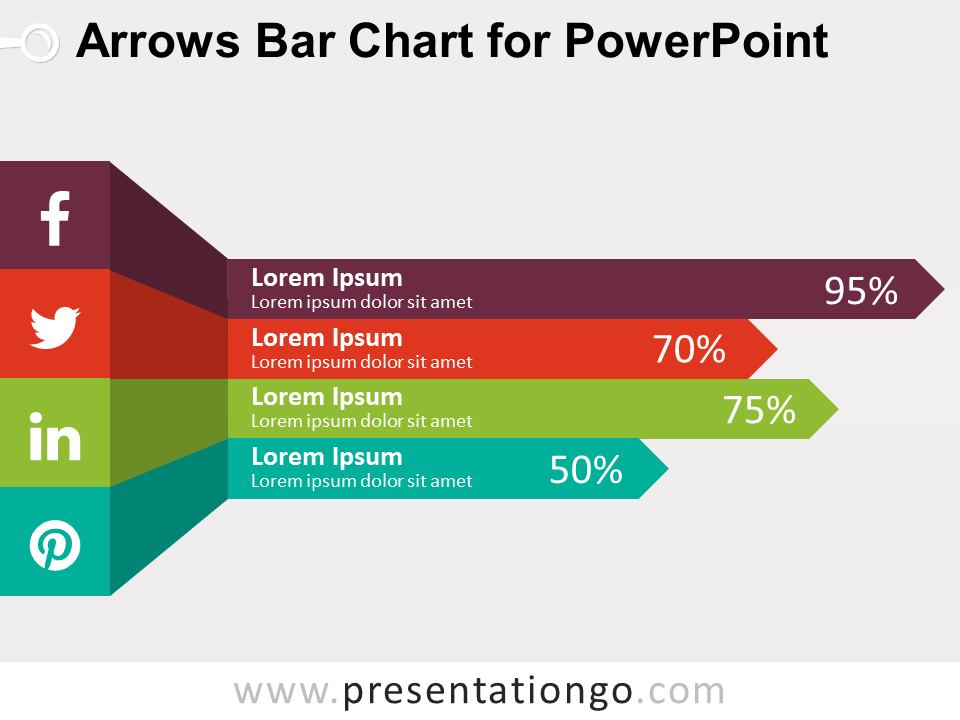 Arrows bar chart for powerpoint presentationgo view larger image free arrows bar chart for powerpoint toneelgroepblik Gallery