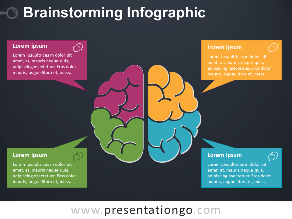 brainstorming infographic for powerpoint - presentationgo, Modern powerpoint