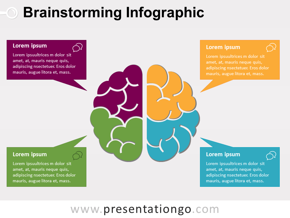 Brainstorming Infographic For Powerpoint Presentationgo