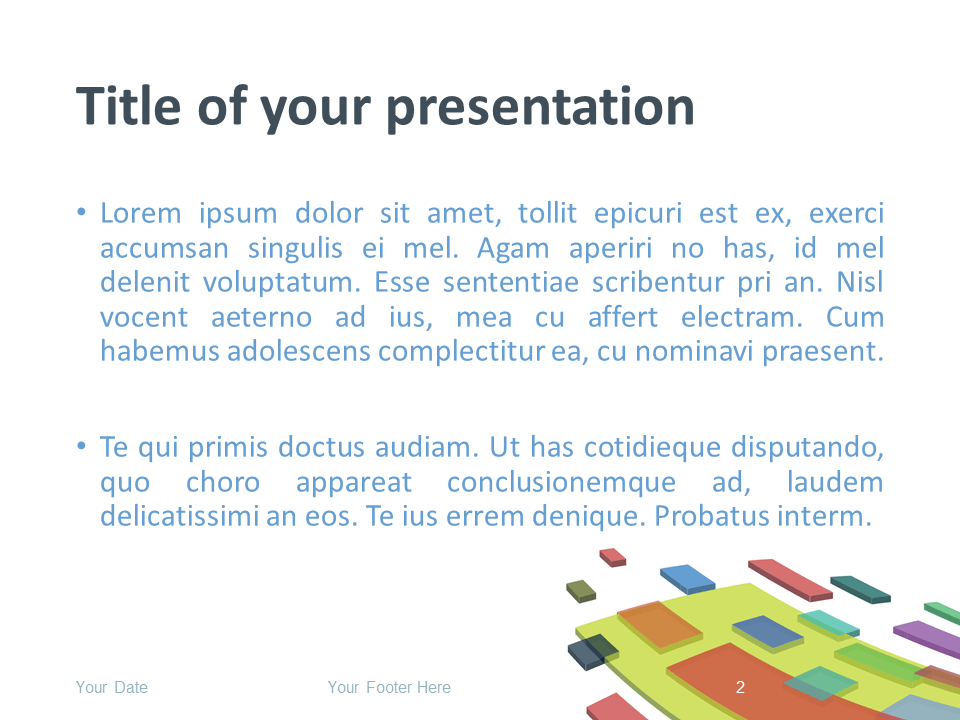Free Modern Abstract PowerPoint Template - Title and Content Slide
