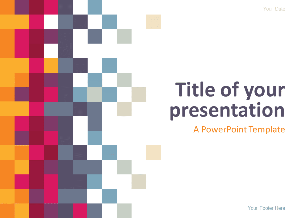 Free Abstract Pixel PowerPoint Template