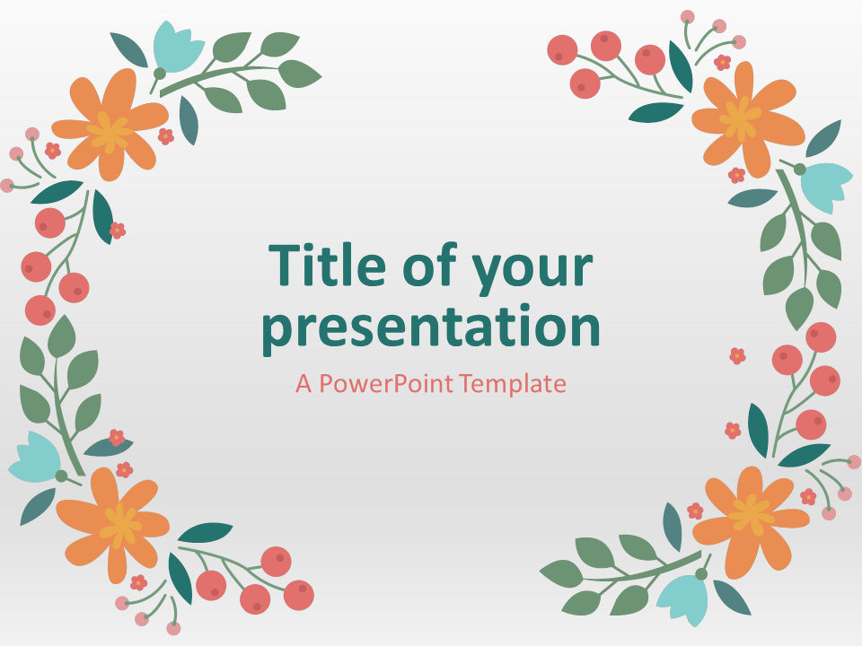 Flowers the free powerpoint template library spring powerpoint template pronofoot35fo Images