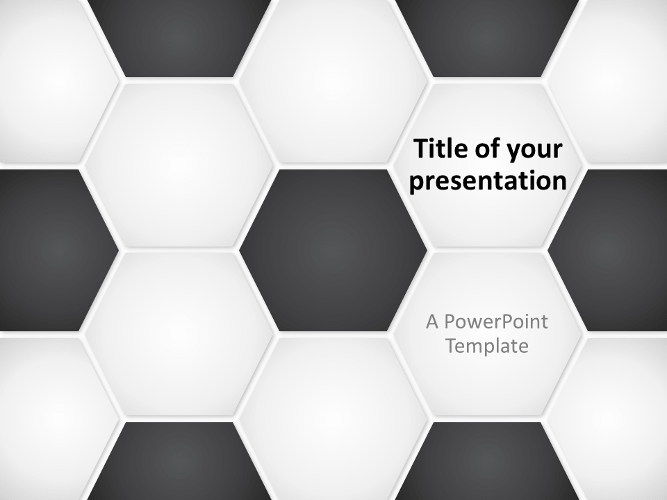 football (soccer ball) powerpoint template, Powerpoint templates