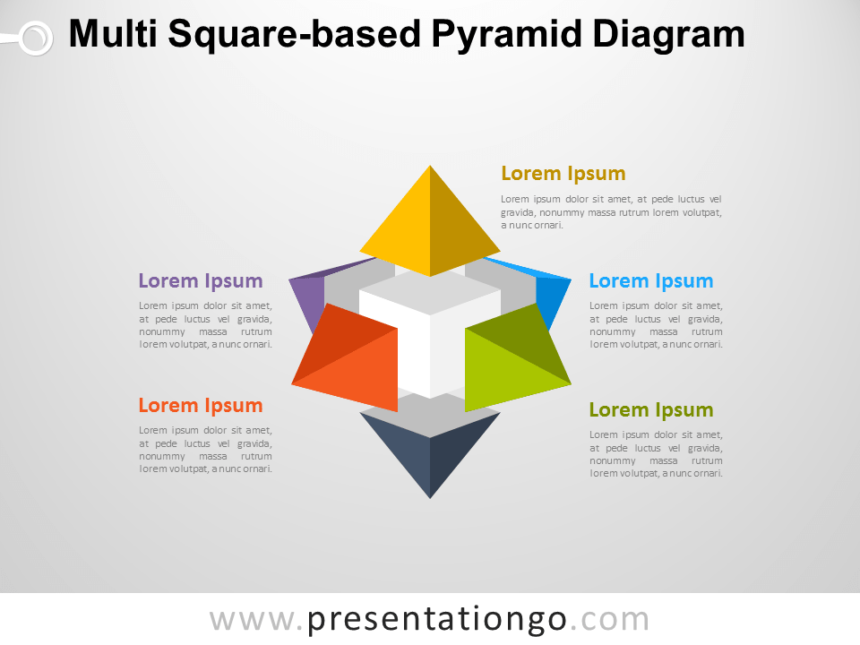 Free Multi Square-based Pyramid Diagram for PowerPoint