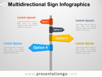 Free Multidirectional Sign Infographics for PowerPoint