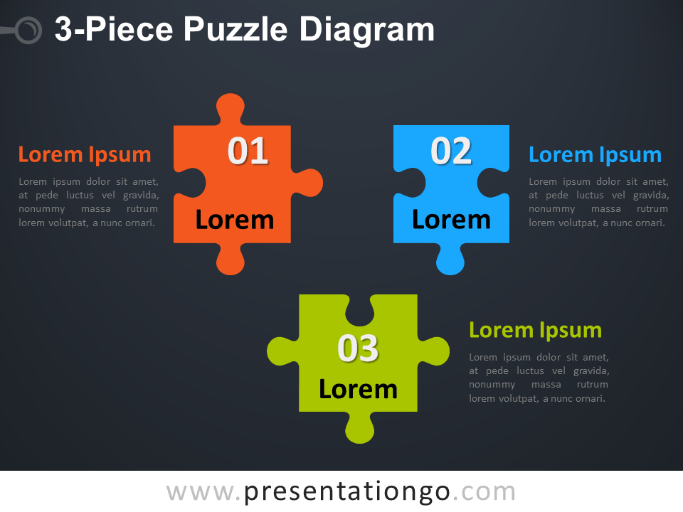 Free 3-Piece Puzzle Diagram - Dark Background