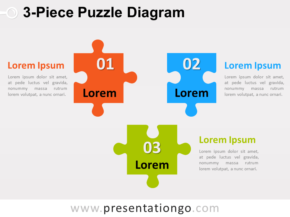 3 piece puzzle diagram for powerpoint presentationgo view larger image free 3 piece puzzle diagram ccuart Image collections