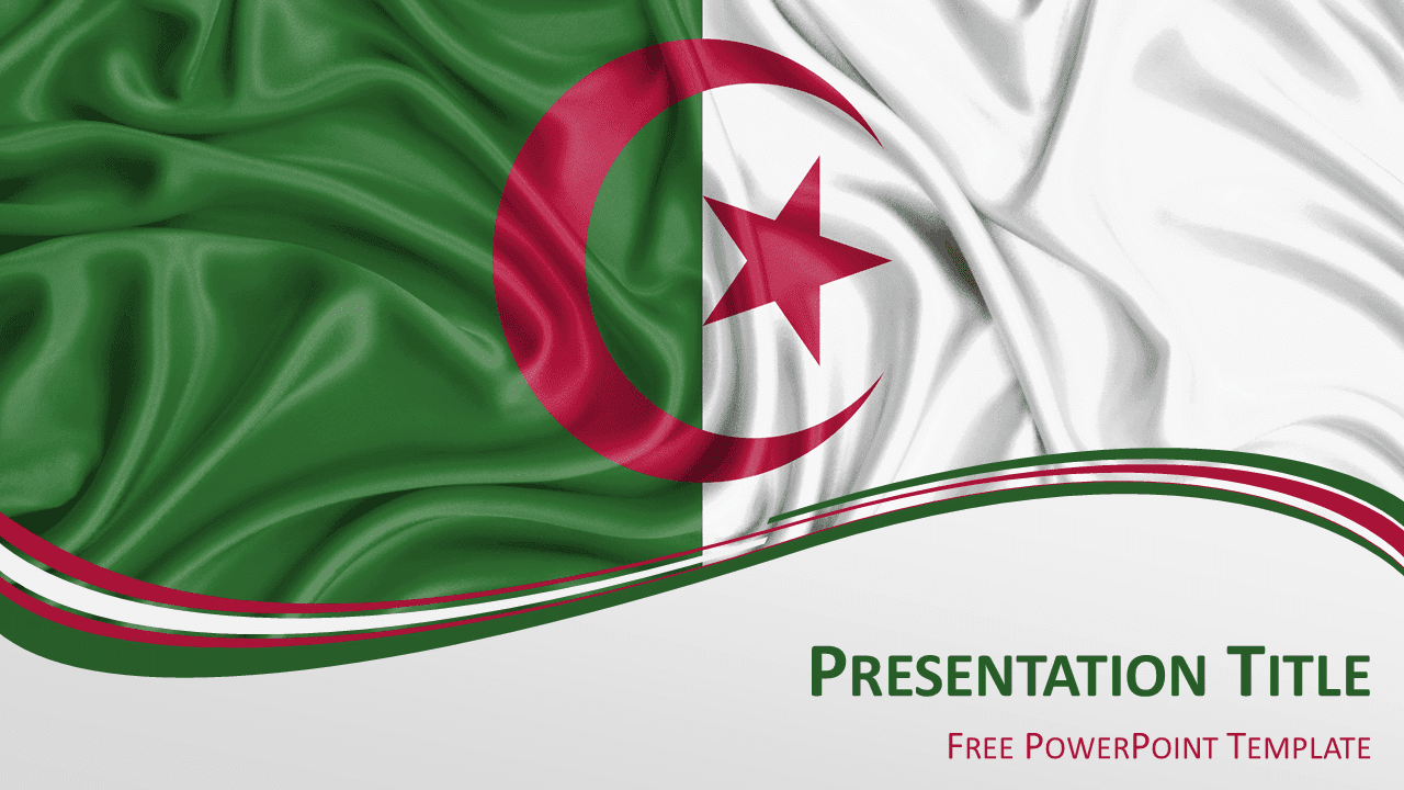 Algeria Flag PowerPoint Template - Widescreen