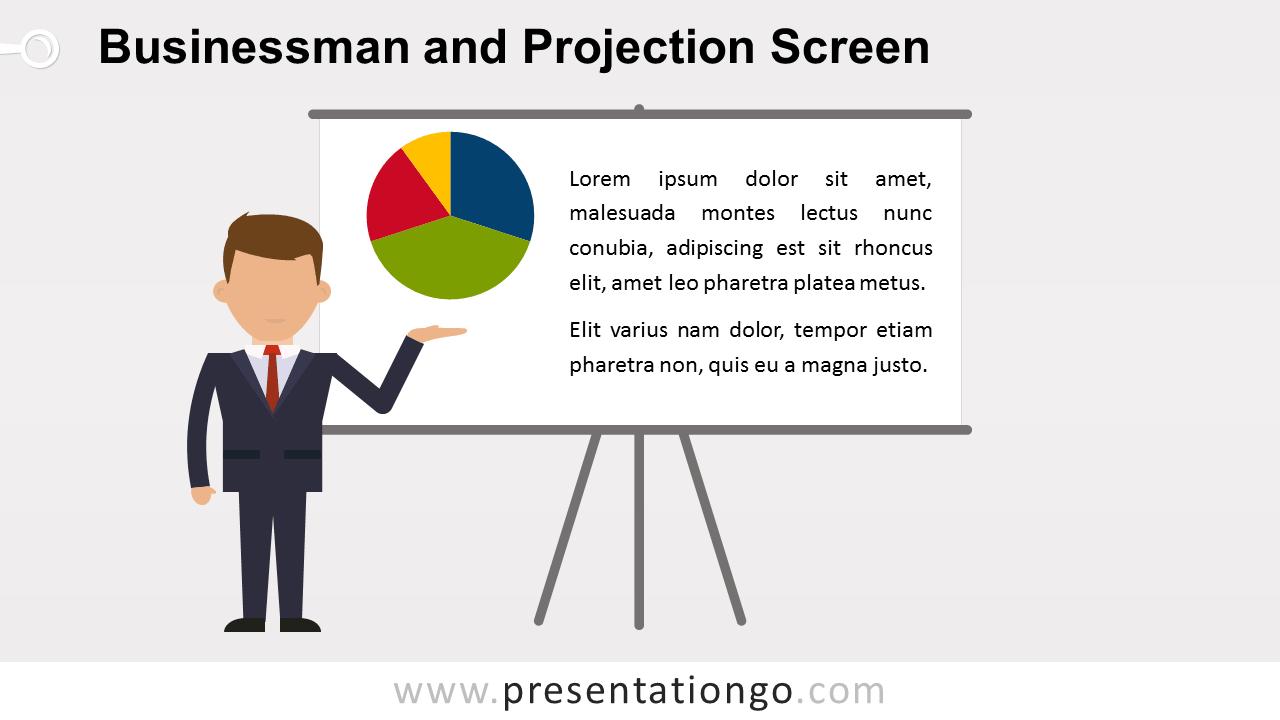 Free Businessman Presentation PowerPoint Template - Widescreen