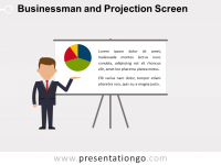 Free Businessman and Projection Screen PowerPoint Template