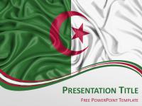 Free Flag Algeria PowerPoint Template