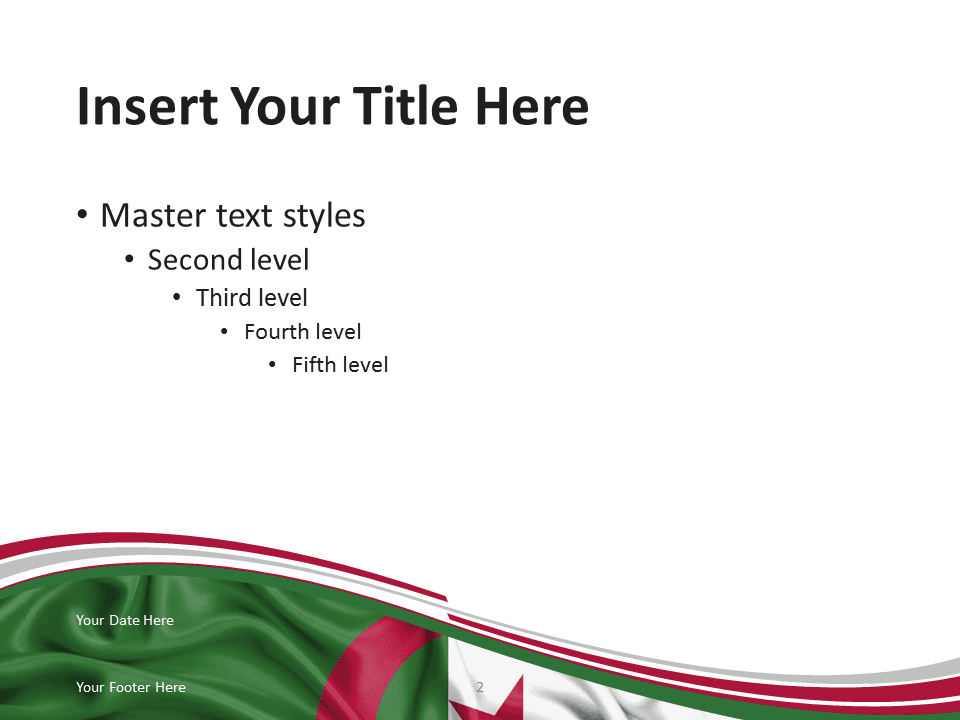 Free Flag Algeria PowerPoint Template - Content Slide