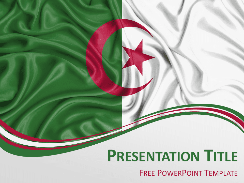Free Flag Algeria PowerPoint Template