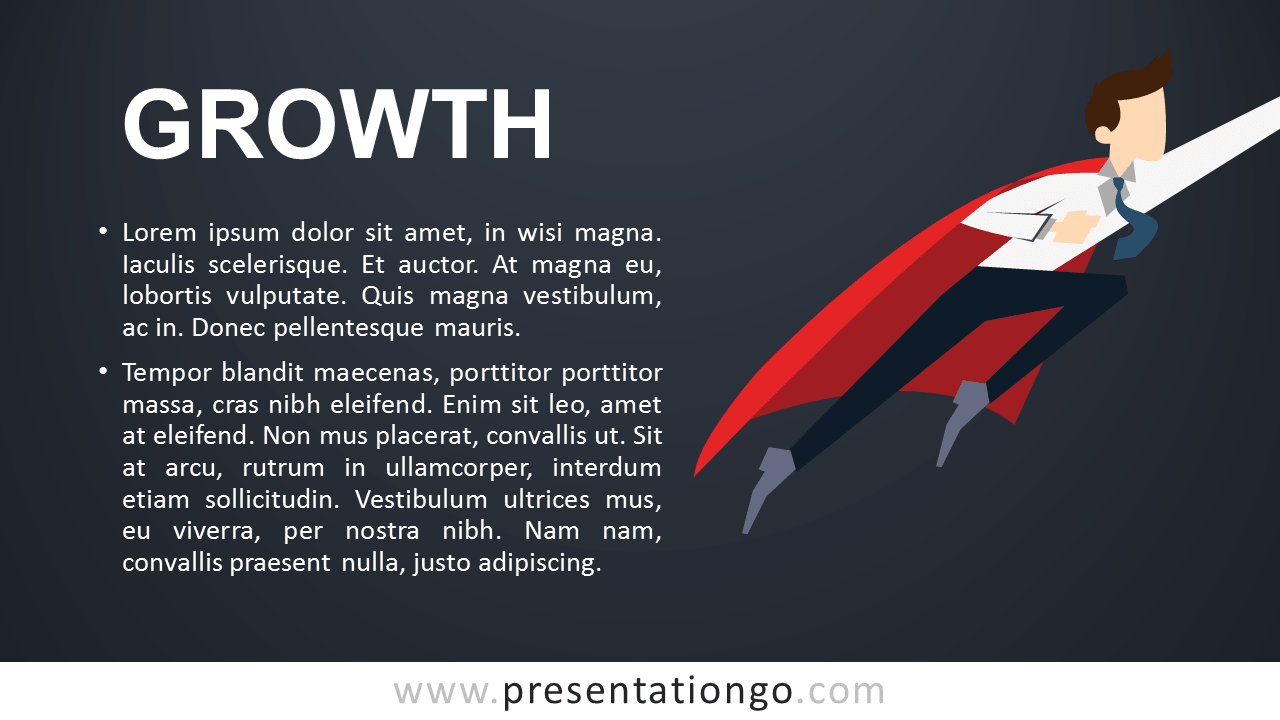 Growth - Metaphor PowerPoint Template - Dark