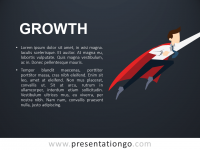 Free Growth PowerPoint Template-Metaphor - Dark