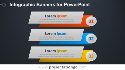 Infographic Banners for PowerPoint - Widescreen - Dark Background