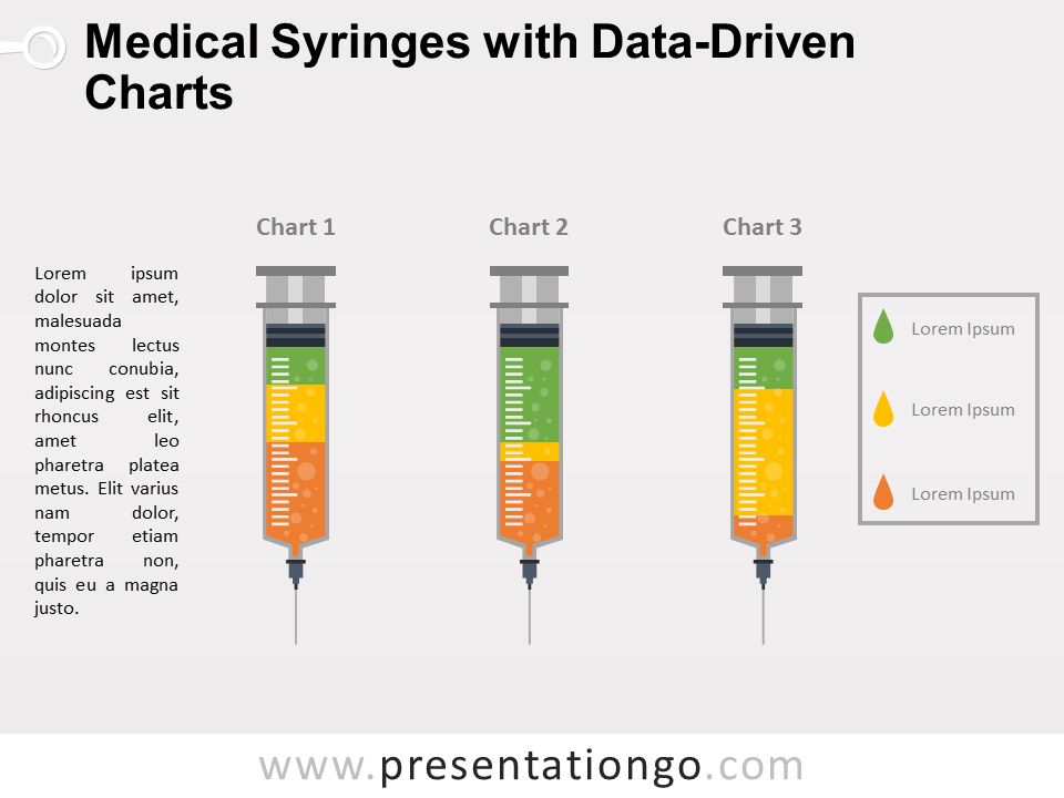 Free Medical Syringes Charts for PowerPoint