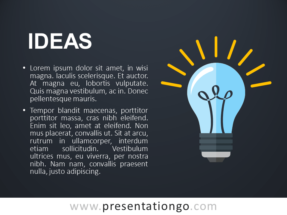 Free PowerPoint Concept Template Ideas - Dark Slide