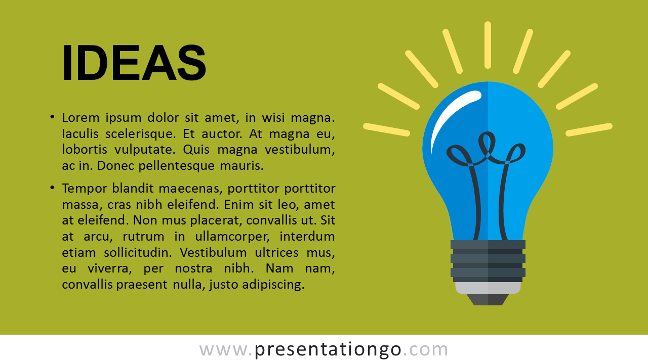 Ideas Metaphor PowerPoint Template - Green
