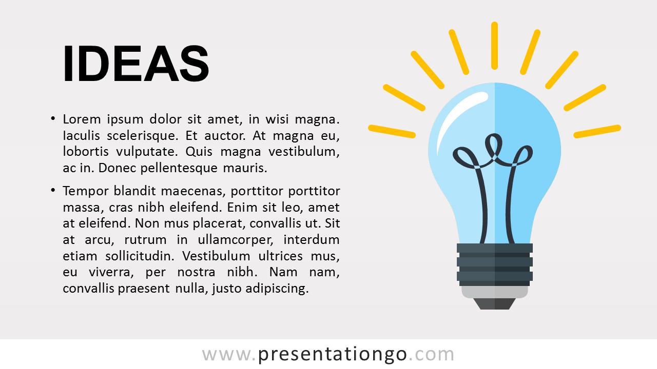 Ideas Metaphor PowerPoint Template