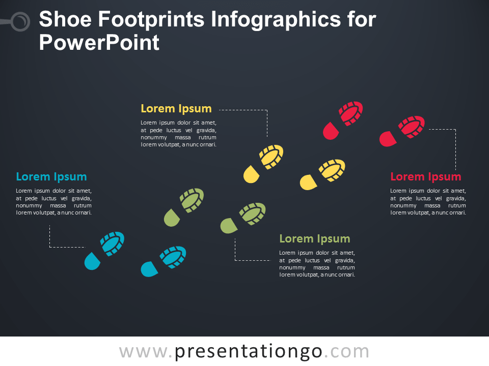 Shoe Footprints Infographics For Powerpoint