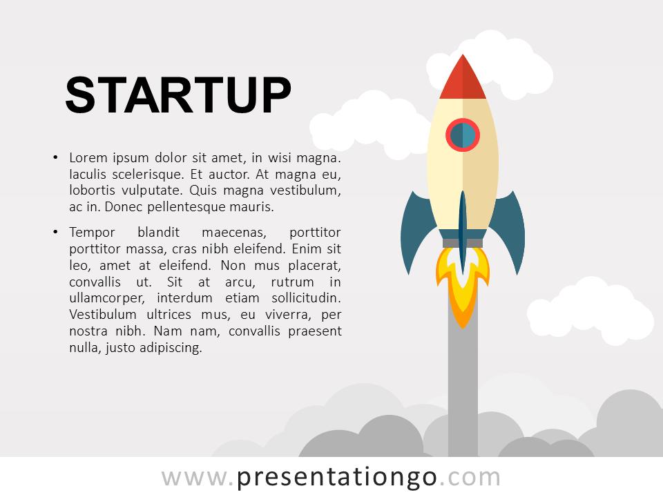 Free Startup PowerPoint Metaphor Template