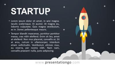 Startup PowerPoint Template - Dark