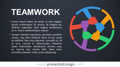 Teamwork PowerPoint Template - Dark