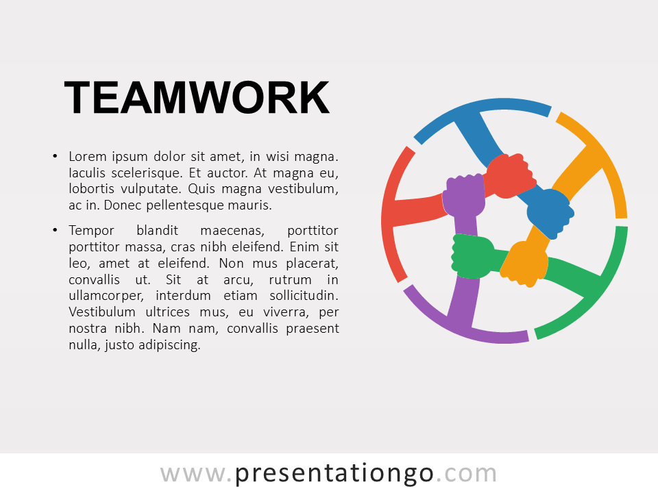 Free Teamwork PowerPoint Template